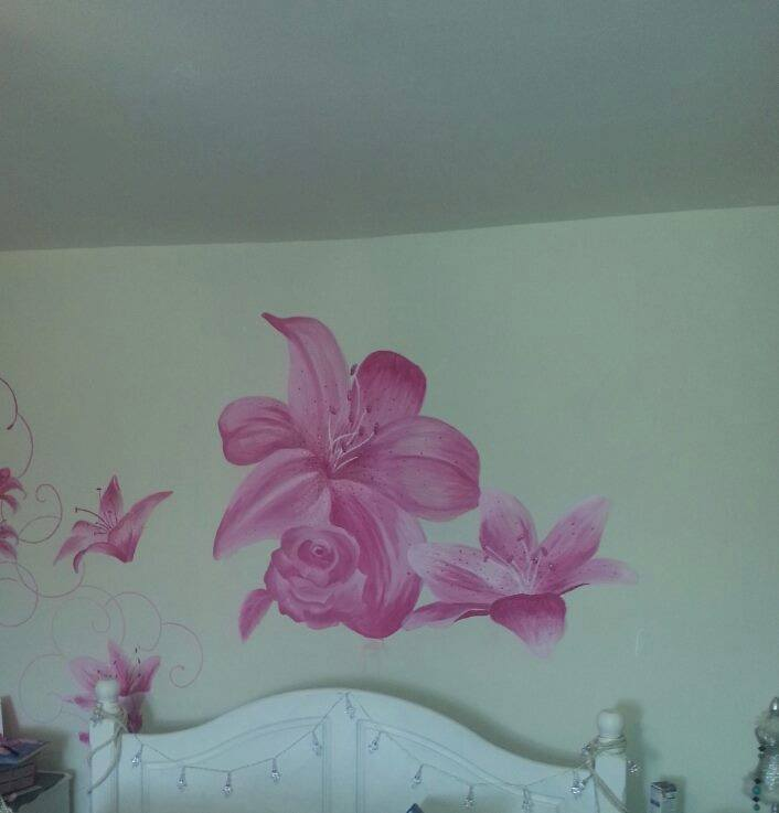 freehand wall art